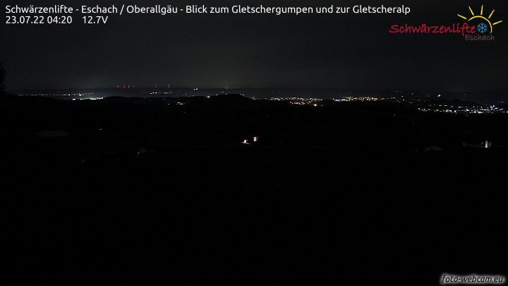 Skilift Eschach mit Blick auf Buchenberg